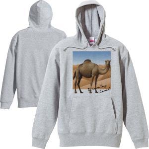色:白、杢グレー サイズ:S、M、L、XL(2L) ※メンズ基準です。  ヒトコブラクダに野生の風景...