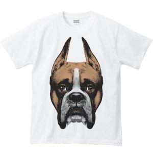 ボクサー(犬)の顔/半袖Tシャツ  |prints