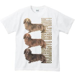 ミニチュア ダックスフンド(三色ダックス)犬/半袖Tシャツ  |prints
