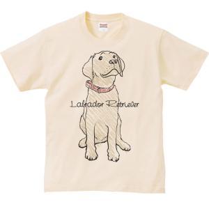 ラブラドール レトリバー(クレヨンタッチ)犬/半袖Tシャツ  |prints