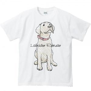 Tシャツ ラブラドール レトリバー(クレヨンタッチ)犬 半袖|prints|02