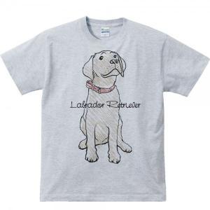 Tシャツ ラブラドール レトリバー(クレヨンタッチ)犬 半袖|prints|03
