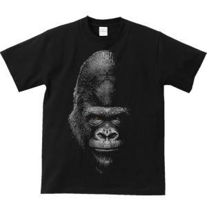 暗闇のゴリラ(ごりら)/半袖Tシャツ  |prints