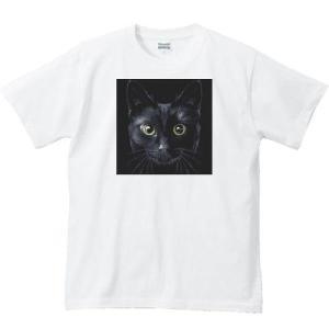 暗闇の黒猫(くろねこ)/半袖Tシャツ  |prints|02
