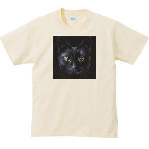 暗闇の黒猫(くろねこ)/半袖Tシャツ  |prints|03