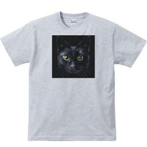 暗闇の黒猫(くろねこ)/半袖Tシャツ  |prints|04