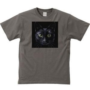 暗闇の黒猫(くろねこ)/半袖Tシャツ  |prints|05