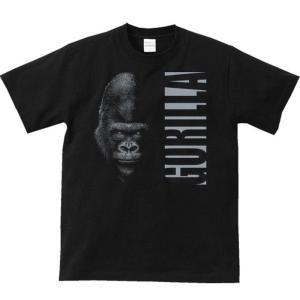 暗闇のゴリラ&ロゴ(ごりら)/半袖Tシャツ  |prints