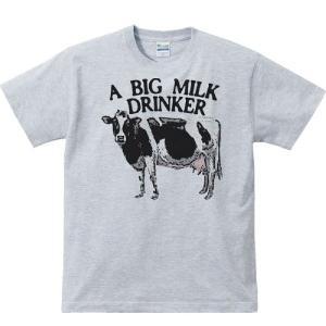 牛(ホルスタイン)ミルク大好き/半袖Tシャツ   prints