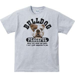 穏やかブルドッグ(ぶるどっぐ)/半袖Tシャツ  |prints
