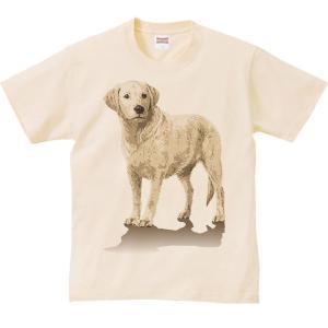 ラブラドール レトリバー(ペイントタッチ)れとりばー/半袖Tシャツ  |prints