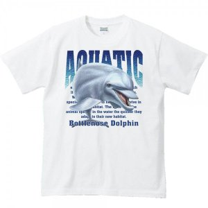 バンドウ イルカ/海豚(水棲生物シリーズ)/半袖Tシャツ   prints