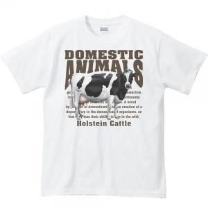 ホルスタイン牛(乳牛)/飼育動物・家畜/半袖Tシャツ   prints