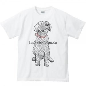 黒ラブラドール レトリバー(クレヨンタッチ)/半袖Tシャツ  |prints