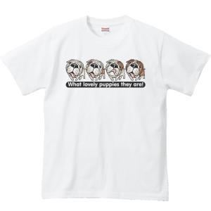 ブルドッグ4兄弟(子犬)/半袖Tシャツ  |prints