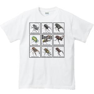 甲虫類(カブトムシの仲間たち)/半袖Tシャツ prints