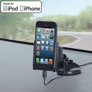 セイワ Apple認証品 Lightningコネクタ 車載 リール充電器付吸盤ホルダーL1 AL203 (sb)|printus