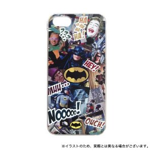 バットマン クラシックTVシリーズ iPhoneSE(第1世代)/5S/5対応シェルジャケット 場面柄|printus
