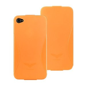 Maclove iPhone4用PCハードケース Challenger case Delice オレンジ|printus