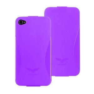 Maclove iPhone4用PCハードケース Challenger case Delice パープル|printus