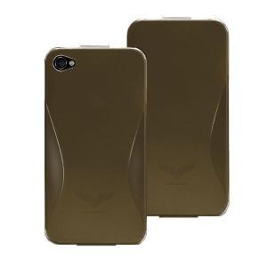 Maclove iPhone4用PCハードケース Challenger case Silver Light グレー|printus