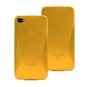 Maclove iPhone4用PCハードケース Challenger case Silver Light オレンジ|printus