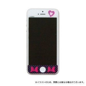 MobiMore iPhoneSE(第1世代)/iPhone5S/iPhone5専用 保護フィルム りぼんブラック printus