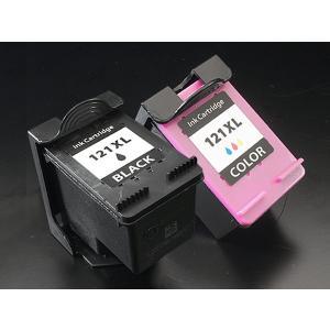 hp インク番号 HP121XL リサイクルインクカートリッジ ブラック+カラー 増量タイプ【送料無料】 ブラック&カラー