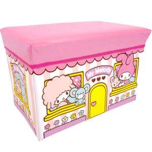 マイメロディストレージBOX ハウス 座れる収納ボックス サンリオ/収納/椅子/おもちゃ箱【ラッピング不可】|pripar