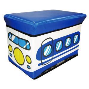 座れる収納ボックス (シンカンセン) ストレージBOXスツール/新幹線/遊べる/収納/椅子/おもちゃ箱【ラッピング不可】|pripar