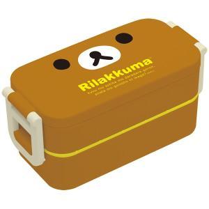リラックマ2点ロックはし付2段ランチボックス 電子レンジ対応 お弁当箱|pripar