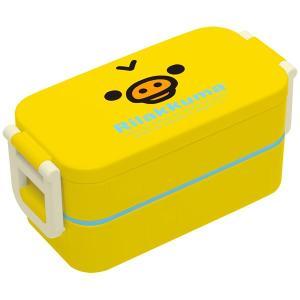 キイロイトリ2点ロックはし付2段ランチボックス 電子レンジ対応 お弁当箱|pripar