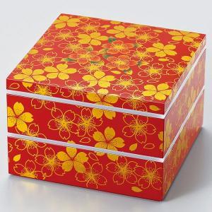 重箱 二段 オードブル 花の舞 赤 大