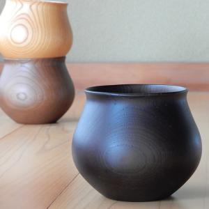 コーヒーカップ 木の器 山中漆器 安清式 ブラック
