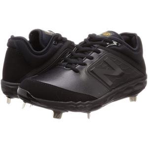 (お買い得)[ニューバランス] 野球スパイク L3000(現行モデル)金歯 ブラック2E
