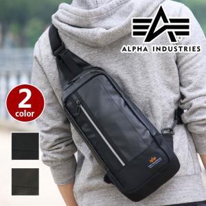ALPHA INDUSTRIES アルファ ボディバッグ インダストリーズ ボディーバッグ カーボン レザー ワンショルダー おしゃれ メンズ レディース 480800 alpha2-004