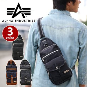 ALPHA INDUSTRIES アルファ ボディバッグ インダストリーズ ワンショルダーバッグ タテ型 ボディーバッグ ミリタリー 迷彩 494000 alpha2-009