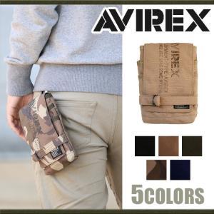 チョークバッグ AVIREX アヴィレックス アビレックス イーグル ウエストバッグ ミリタリー ショルダー バッグ メンズ ブランド ツーリング サイクリング|pro-shop