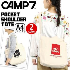 トートバッグ ショルダー 2WAY CAMP7 キャンプセブン バッグ コットントート 正規品 レディース メンズ  ブランド 旅行 アウトドア 2WAY 買い物 A4|pro-shop