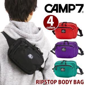 ボディバッグ CAMP7 キャンプセブン リップストップ スクエア ボディーバッグ ショルダー バッグ サブバッグ メンズ レディース 男女兼用 ブランド|pro-shop