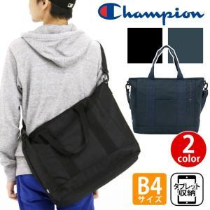 大人気ブランド「champion」からシンプルなショルダー付きトートバッグが登場! メインルームはB...