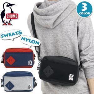 ミニショルダー バッグ CHUMS チャムス ショルダーバッグ ミニ ワンショルダー ポーチ バッグインバッグ メンズ レディース Mini Square Shoulder Sweat Nylon|pro-shop