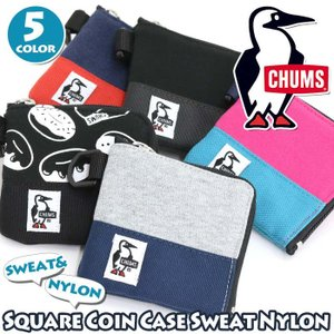 財布 コインケース CHUMS チャムス 小銭入れ メンズ レディース 男女兼用 ブランド スリム L字ファスナー Square Coin Case Sweat Nylon|pro-shop