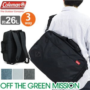 ブリーフケース Coleman コールマン A3 ビジネスバッグ オフザグリーン OFF THE GREEN 3way 2way リュック メンズ レディース 男女兼用 旅行 正規品 父の日|pro-shop