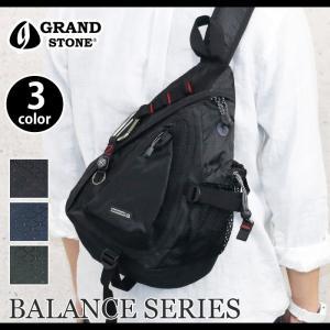 ボディバッグ GRAND STONE グランドストーン BALANCE バランス ブランド ボディーバッグ  バイク ツーリング サイクリング サイドポケット イヤホン|pro-shop