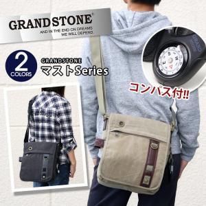 ショルダーバッグ 帆布 GRAND STONE グランドストーン MAST マスト ショルダー バッグ メンズ レディース 男女兼用 ブランド|pro-shop