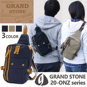 ボディバッグ GRAND STONE グランドストーン 帆布 ウエストバッグ ボディーバッグ ONZ オンス シリーズ ブランド メンズ 通学 通勤 アウトドア 送料無料|pro-shop