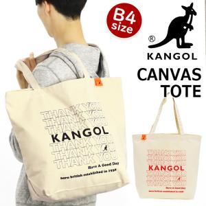 トートバッグ KANGOL カンゴール トート バッグ コットン キャンバス 手提げ 肩掛け 通学 レディース メンズ|pro-shop
