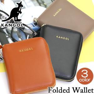 財布 KANGOL カンゴール 二つ折り財布 二つ折り 折り財布 ウォレット サイフ ジッパー財布 ラウンドジッパー コンパクト|pro-shop