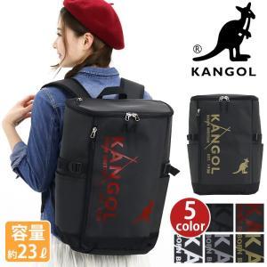 リュック KANGOL カンゴール スクエア リュックサック デイパック バックパック メンズ レディース ブランド 旅行 23L サイドポケット リフレクター|pro-shop